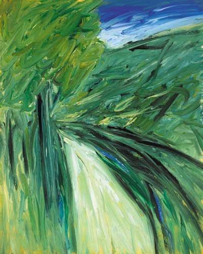 14: THE ROAD, 1984, oil on board, signed and dated lowe