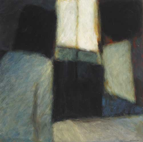 21: EVENING STUDY AT WINDOW II, 1990, oil on board, sig