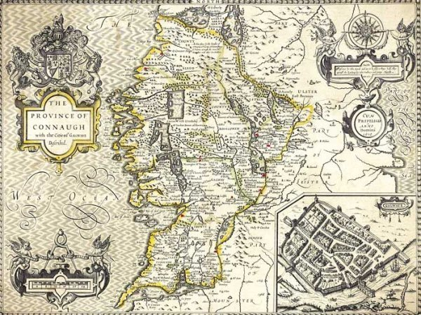 """4: 1610. Map """"The Province of Connaugh"""