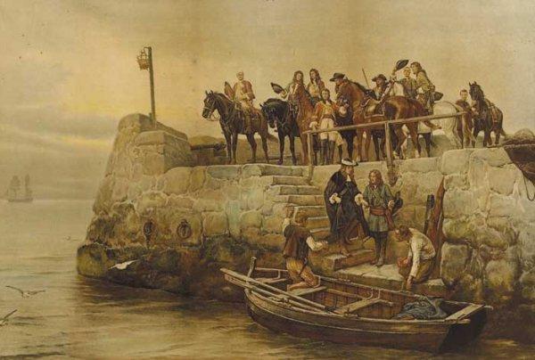 15: Irish School (19th Century) Flight of King James II