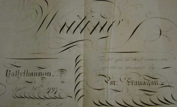 20: 1780s-1790s. A large scrapbook from Ballyshannon of