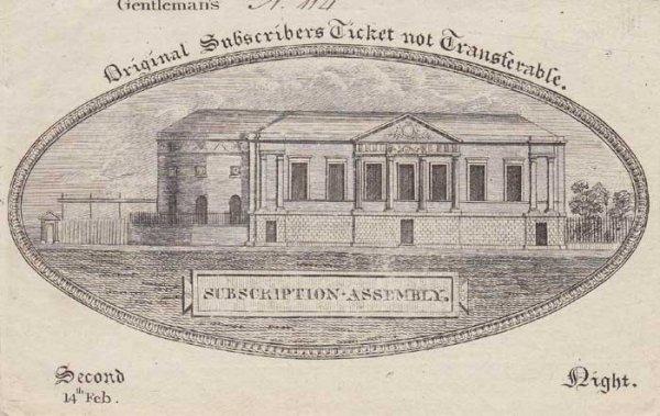 22: Circa 1780. Rotunda, Dublin. Gentleman's Ticket for