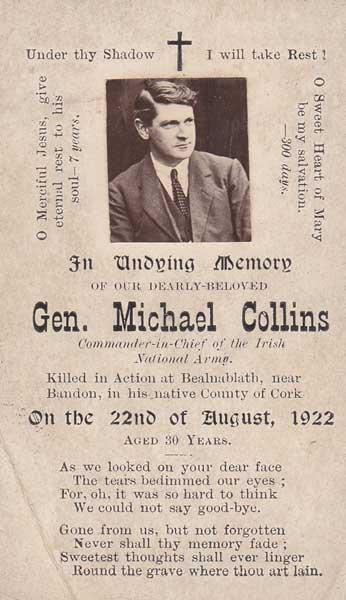 263: 1922 Michael Collins In Memoriam card