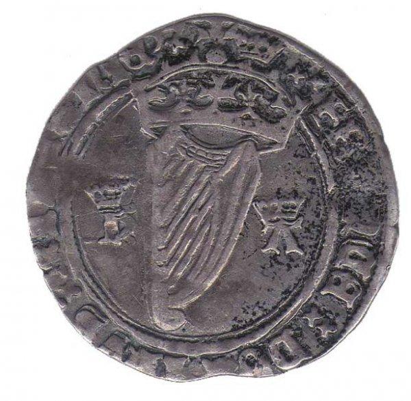 7: 1534-5 Anne Boleyn as Queen - an Irish silver groat