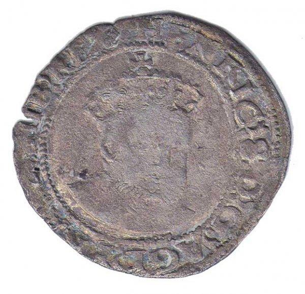 8: Henry VIII Irish silver groat coin, minted in Dublin
