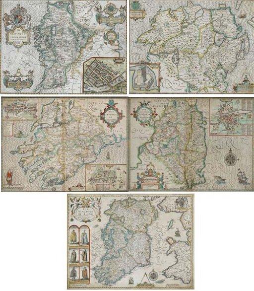John Speed Map Of Ireland.10 John Speed The Kingdom Of Ireland And Maps Of Co