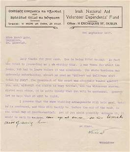 245: 1917 (3 September) Michael Collins letter to Nora