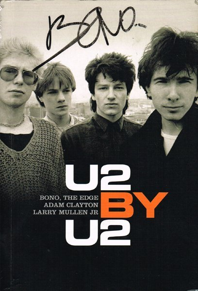 'U2 by U2' book signed by Bono