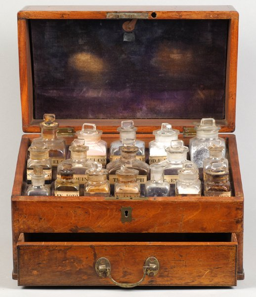 Victorian apothecary cabinet