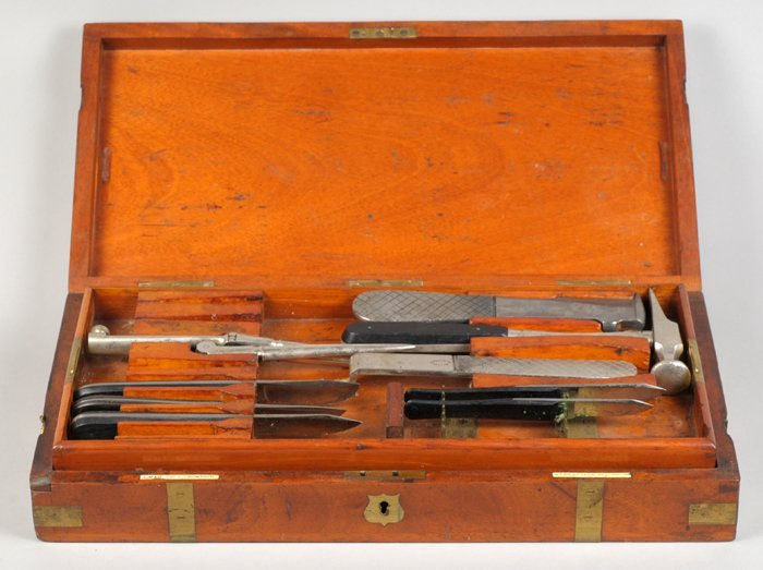Army Surgeon's campaign instrument box