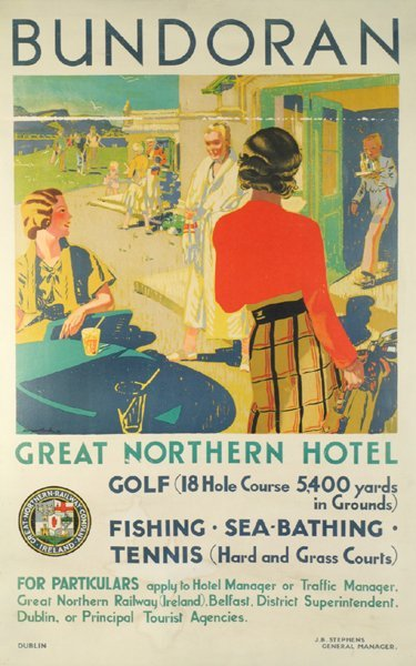 1932 Great Northern Railway Travel Poster