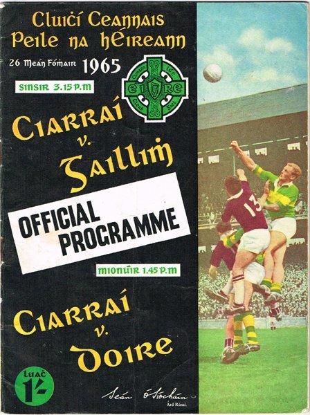 1960s GAA All-Ireland finals, programmes.
