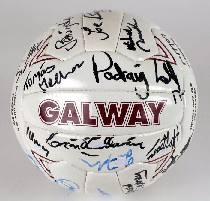 Gaelic Football, Galway, c.2000s, signed football