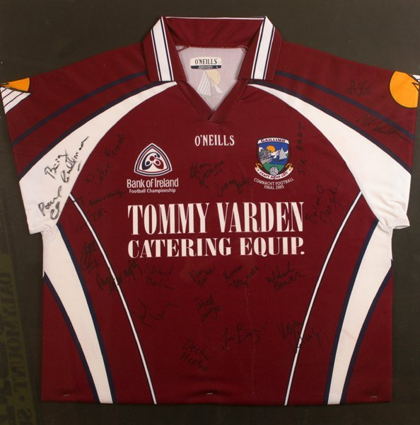 Gaelic Football, Galway, 2005, signed jersey.