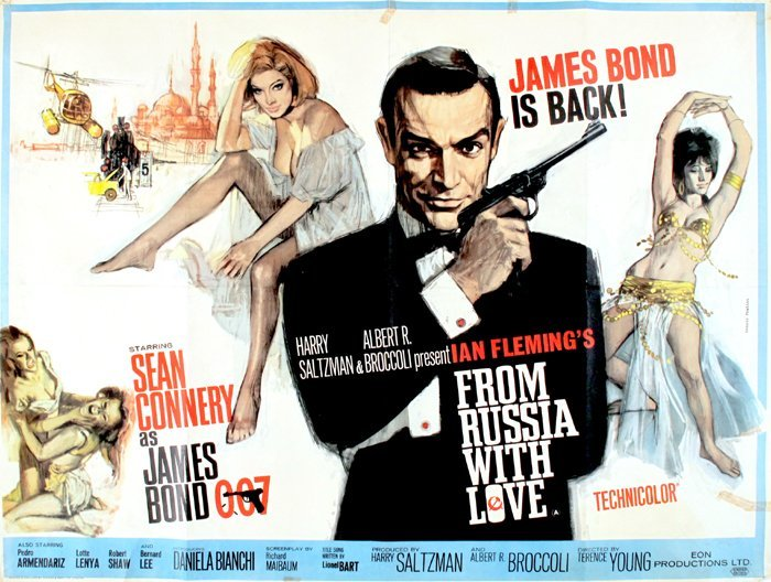 From Russia With Love, British Quad poster.
