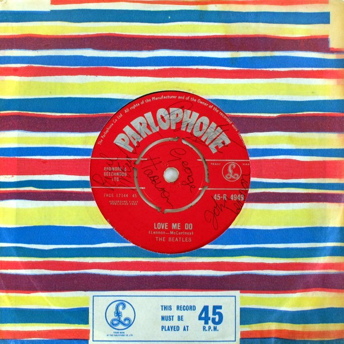 """The Beatles, Love Me Do"""", signed"""""""
