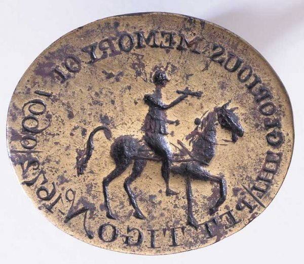 12: 18th century Williamite Seal for Pettigo, Co. Doneg