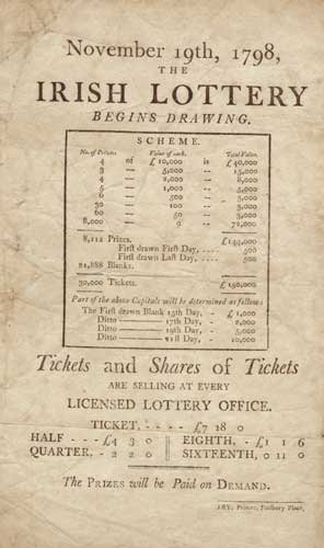 15: 1798 The Irish Lottery