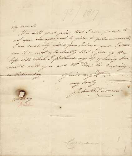 22: John Philpot Curran (1750-1817) Autograph letter, u