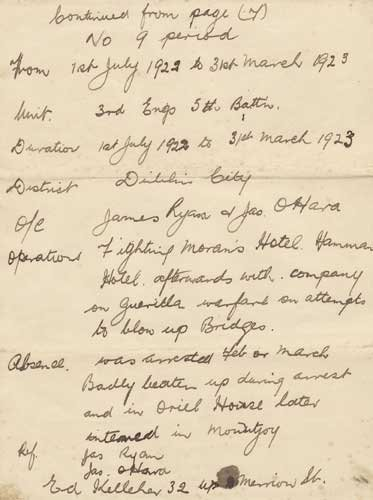 109: 1916 Clanwilliam House Garrison  A unique handwrit