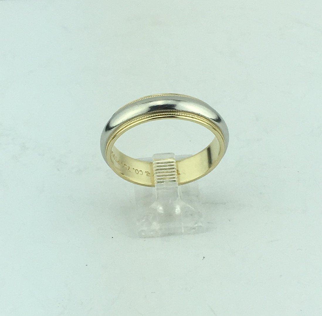 Tiffany Milgrain Wedding Band 18k Yellow Gold &