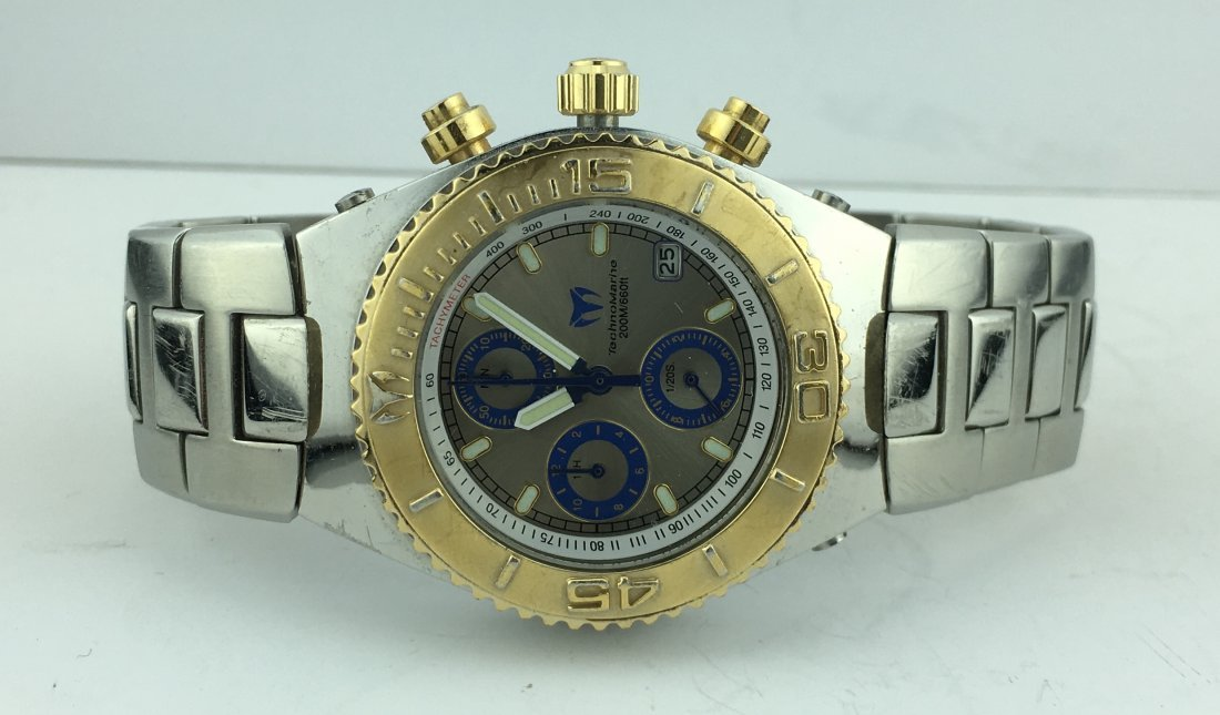 TechnoMarine Cruise Chronograph Watch w/ Stainless Band - 4