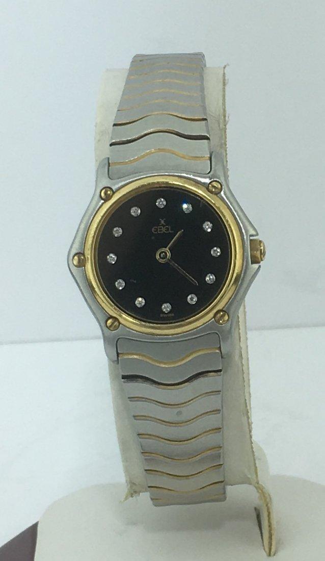 Ebel Two Tone Steel & 18k Gold Ladies Watch Diamond