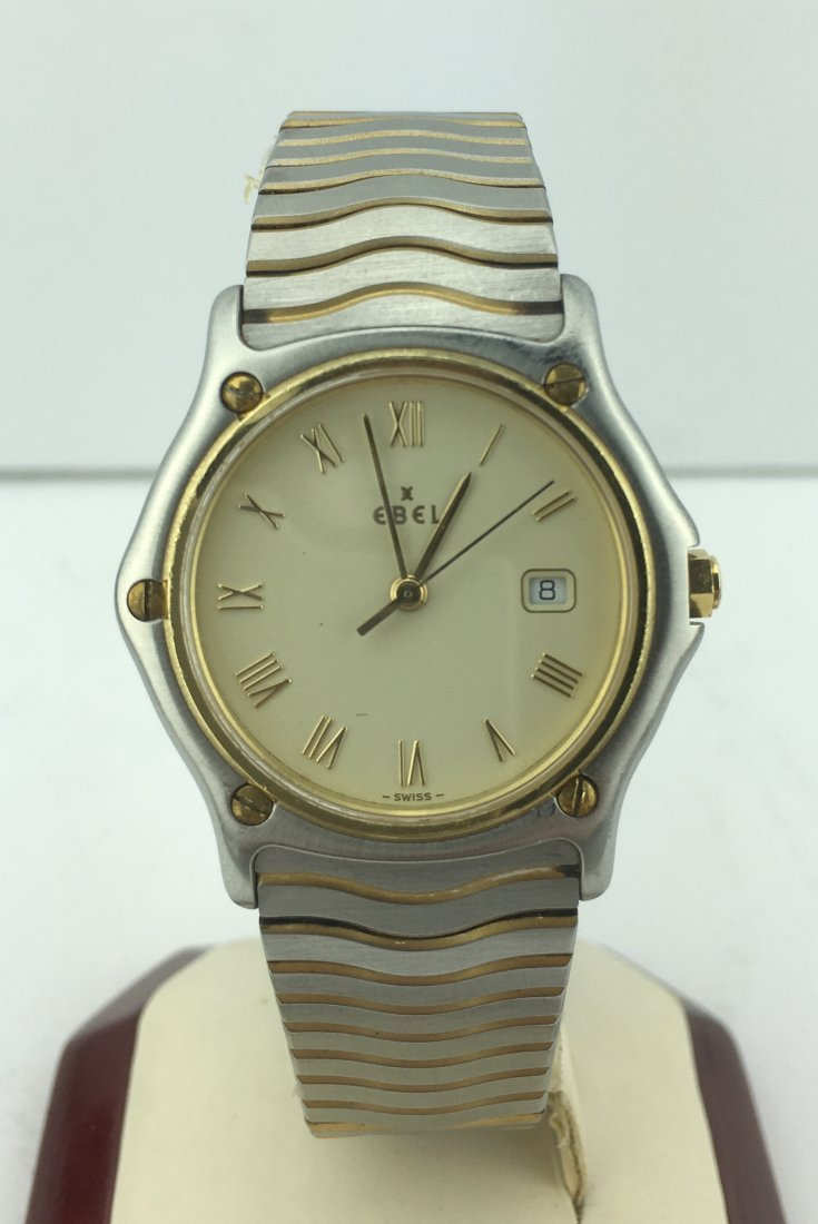 Men's Ebel Wave Stainless Steel and 18k Gold 183909