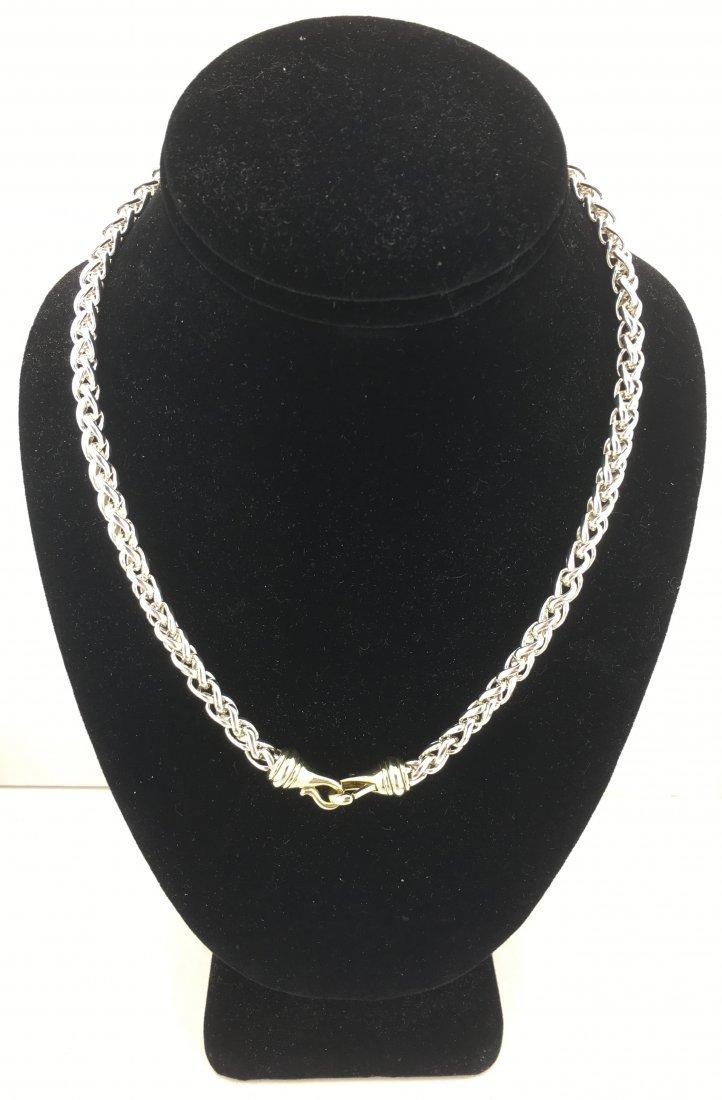 "David Yurman Wheat Chain 18"" Sterling Silver & 14k Gold"