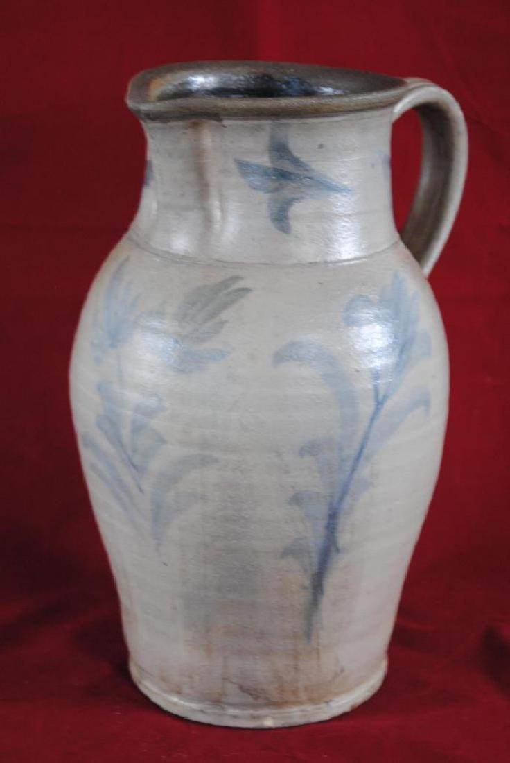 Cobalt Decorated Salt Glazed Pitcher
