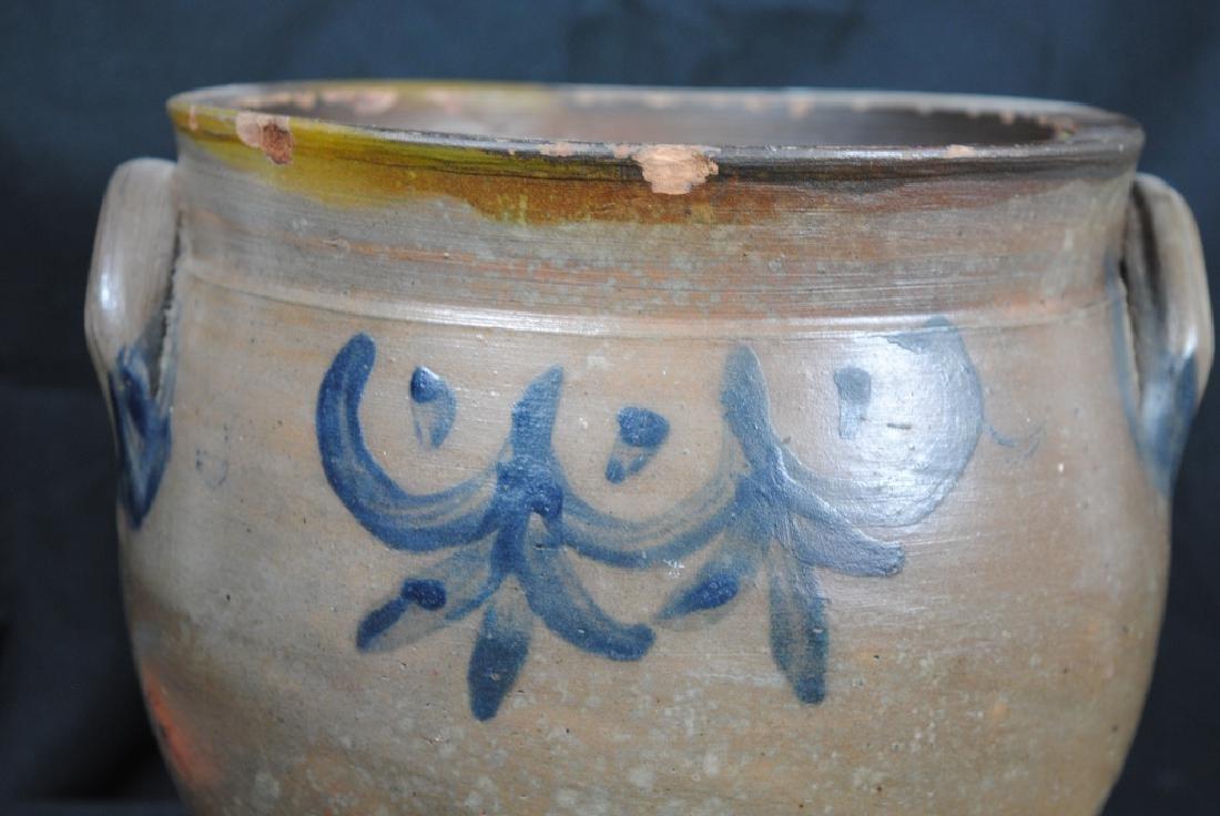 Salt Glazed Crock w/ Cobalt Decoration - 2