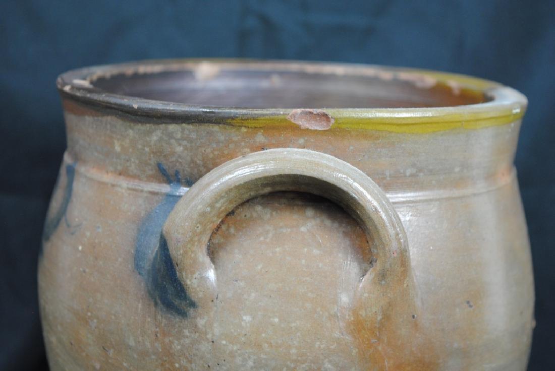 Salt Glazed Crock w/ Cobalt Decoration - 4