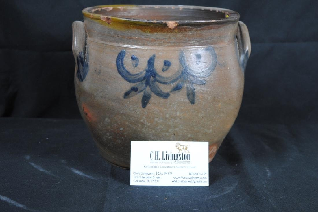 Salt Glazed Crock w/ Cobalt Decoration - 9