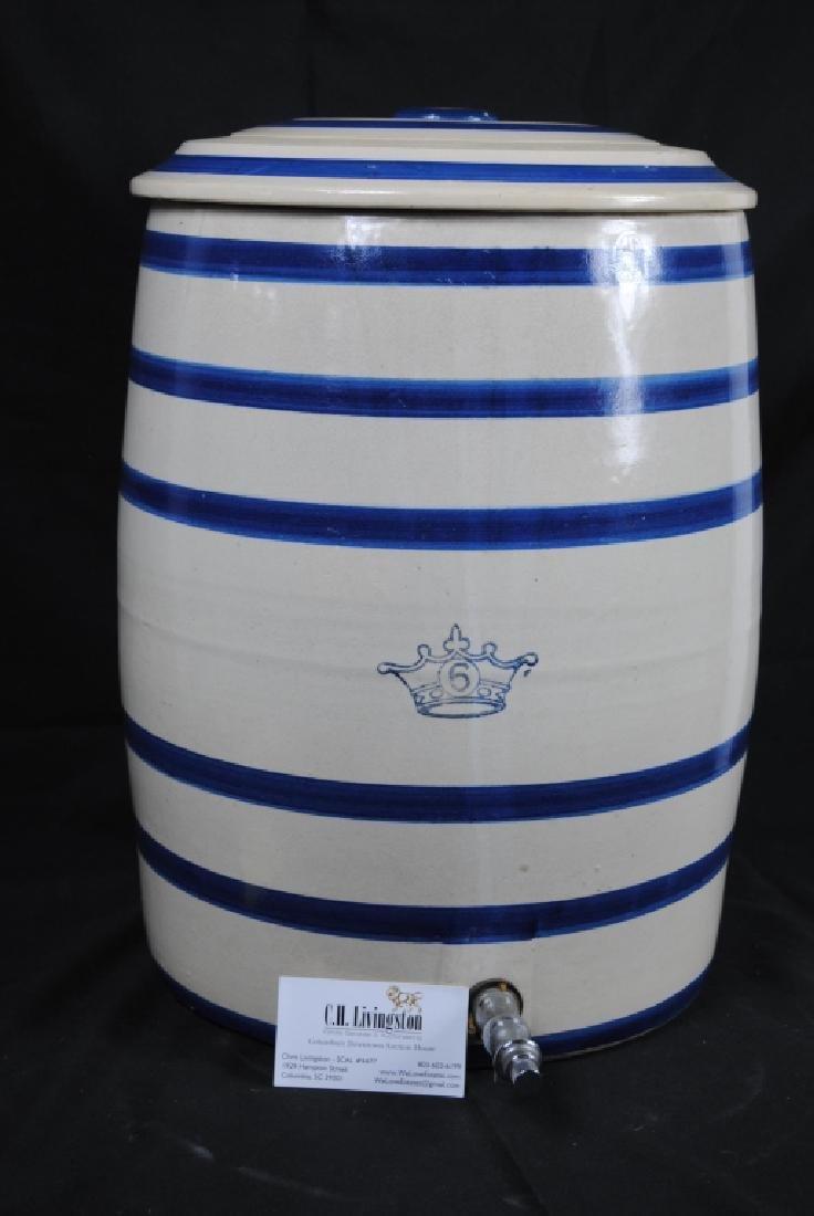 Robinson Ransbottom No. 6 Salt Glazed Water Cooler - 8
