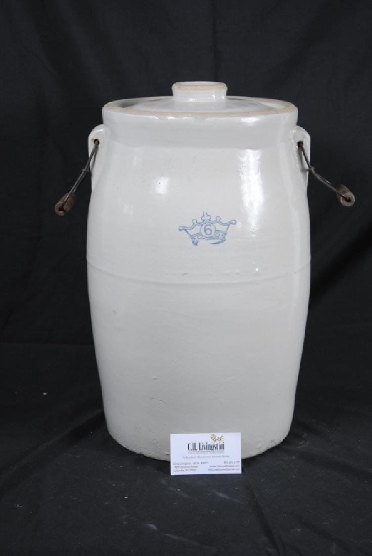Robinson Ransbottom No. 6 Lidded Crock - 9