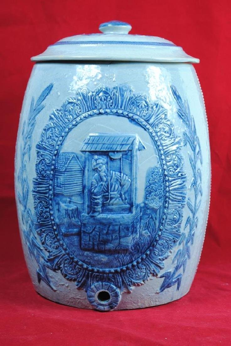 Robinson Clay Stoneware Ice Water Cooler w/ Lid