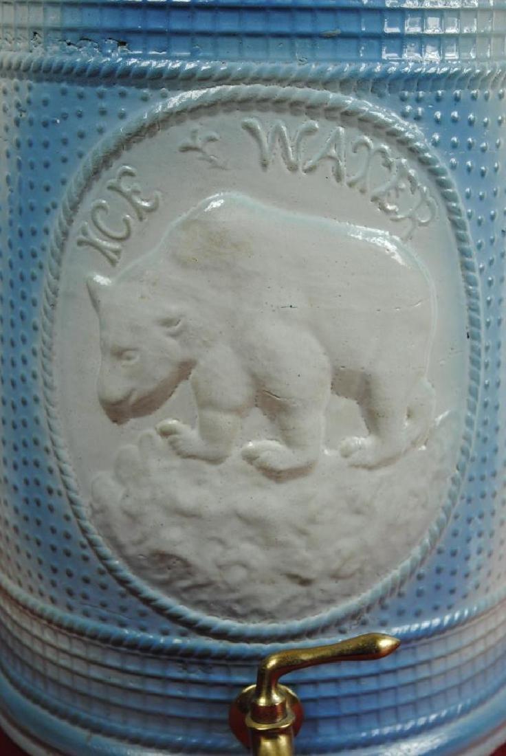 Stoneware Ice Water Cooler w/ Polar Bear - 2