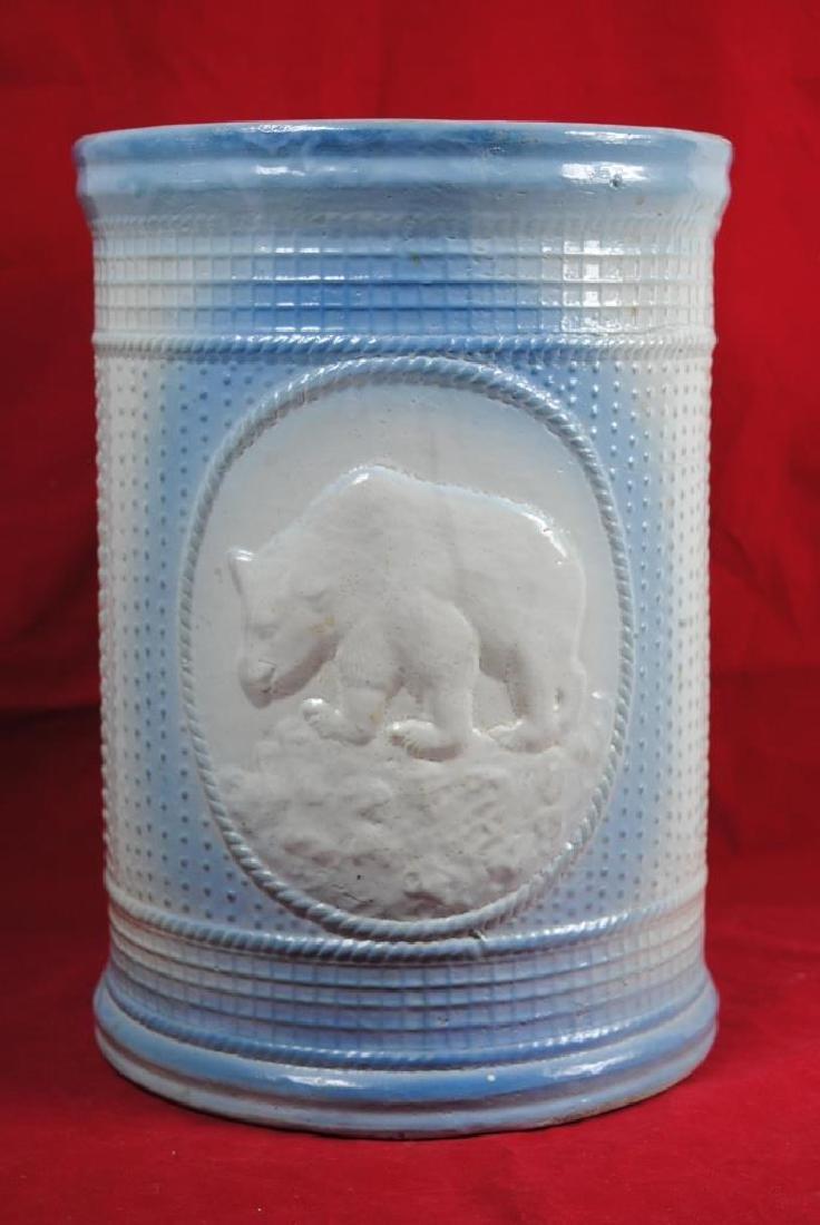 Stoneware Ice Water Cooler w/ Polar Bear - 4