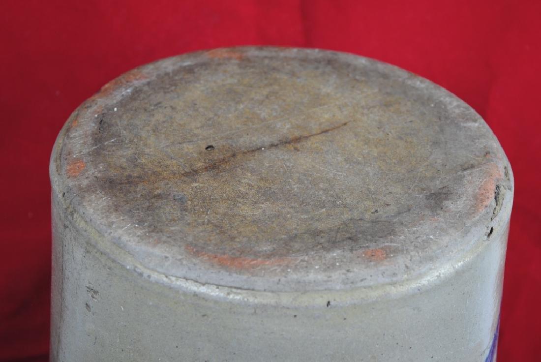 No. 4 Salt Glazed Slip Decorated Crock - 8