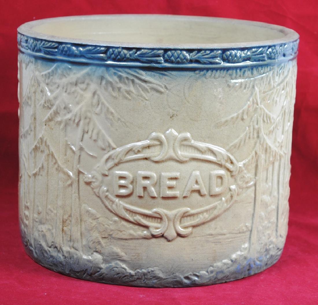 Stoneware Bread Bowl w/ Pineapple Rim