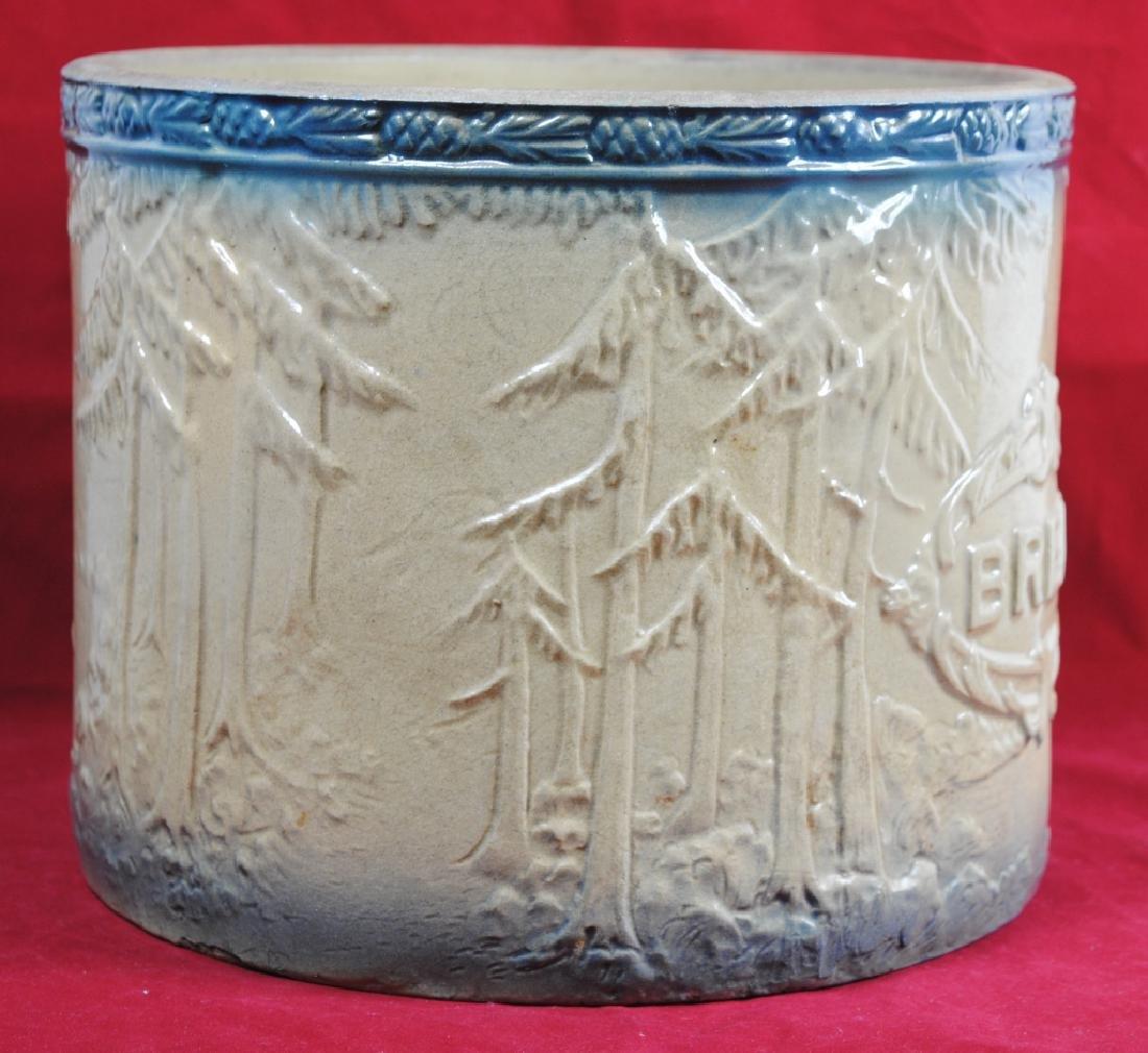Stoneware Bread Bowl w/ Pineapple Rim - 3