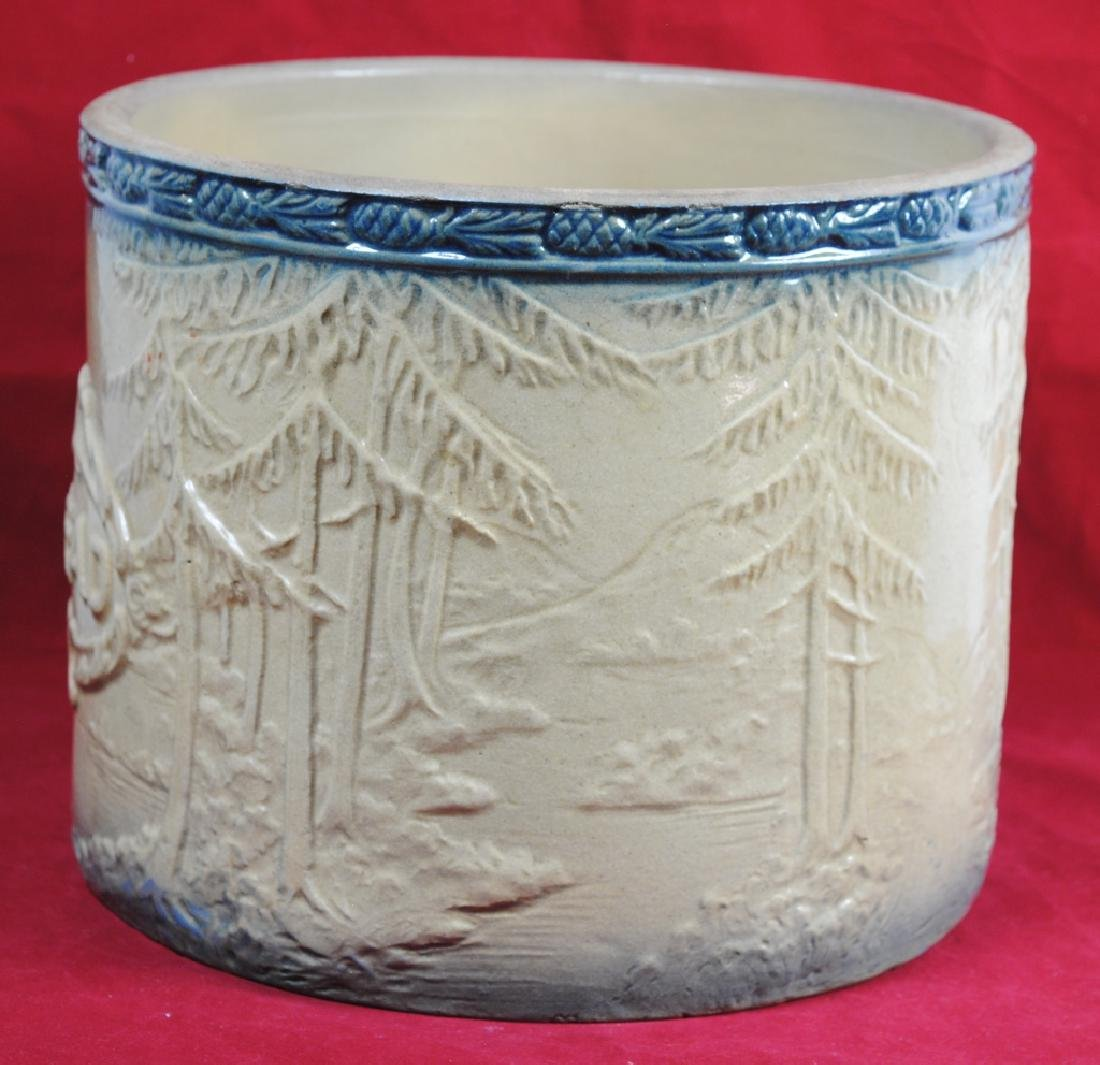 Stoneware Bread Bowl w/ Pineapple Rim - 4