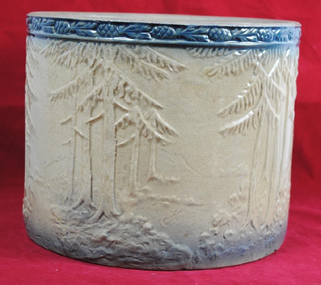 Stoneware Bread Bowl w/ Pineapple Rim - 5