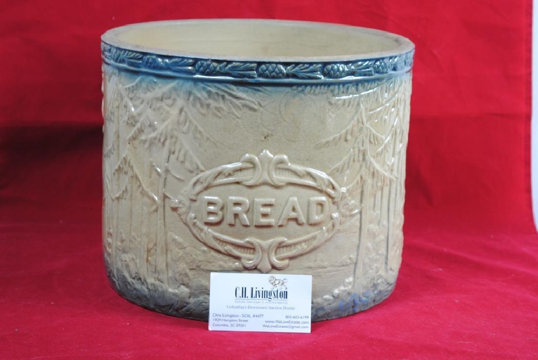 Stoneware Bread Bowl w/ Pineapple Rim - 7