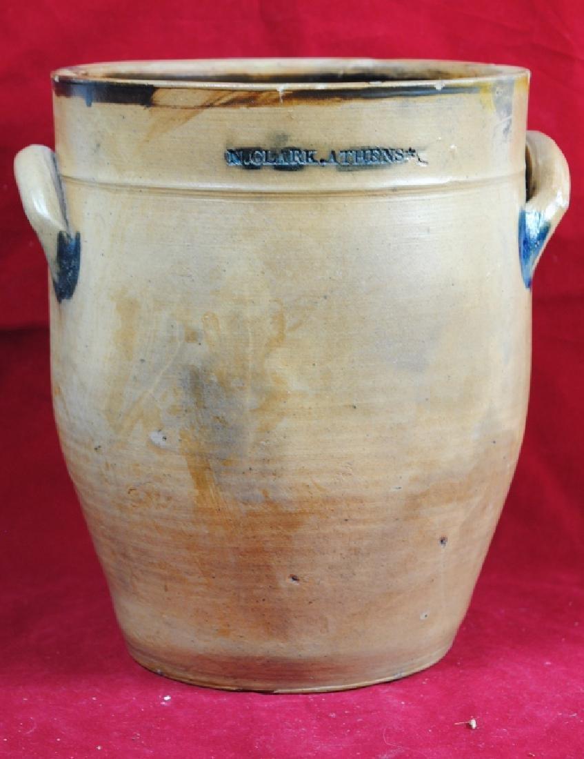 N. Clark Athens N.Y. Stoneware Crock