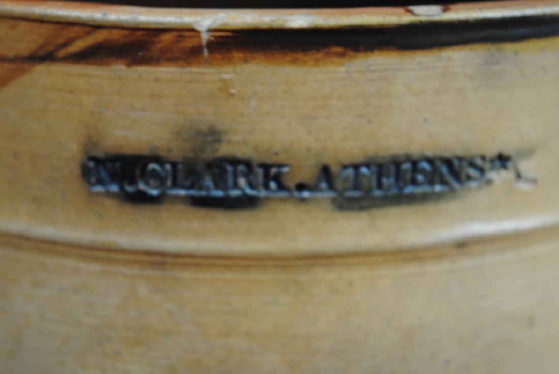 N. Clark Athens N.Y. Stoneware Crock - 2