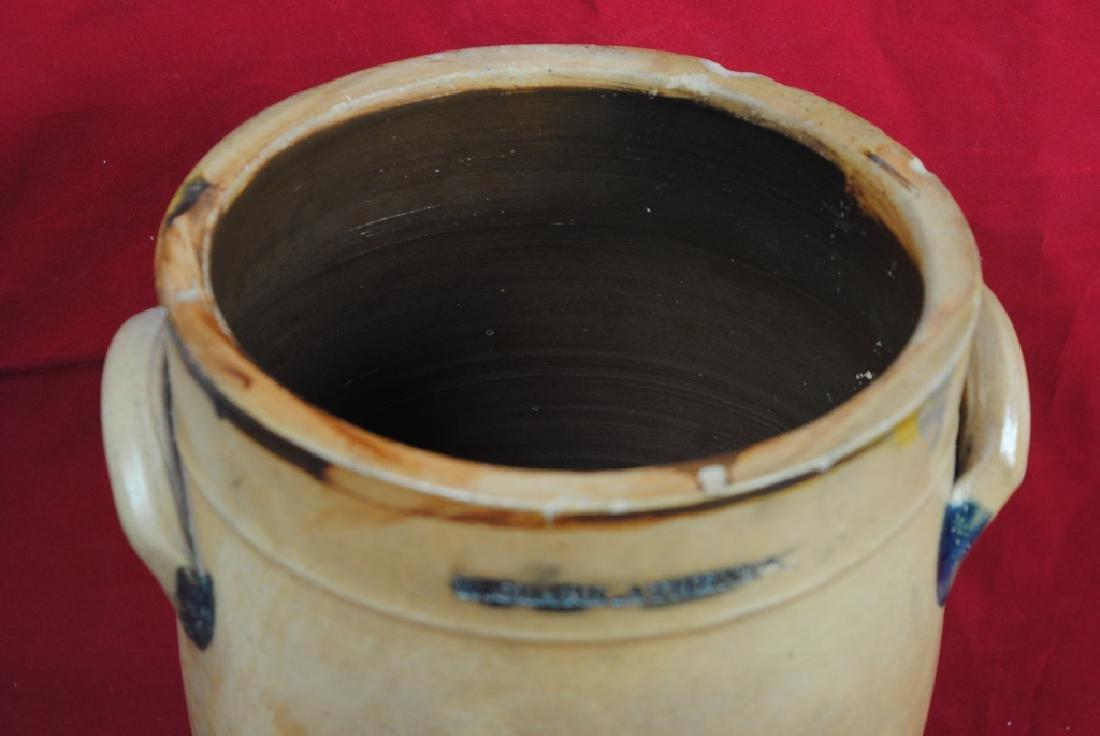 N. Clark Athens N.Y. Stoneware Crock - 3