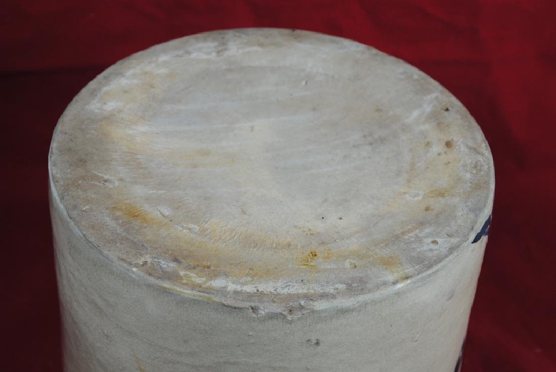 Two-Gallon Salt Glazed Crock w/ Bird on Branch - 10