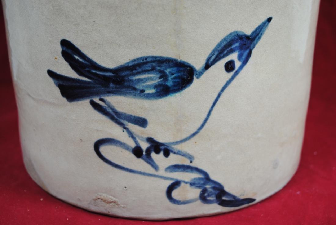 Two-Gallon Salt Glazed Crock w/ Bird on Branch - 3