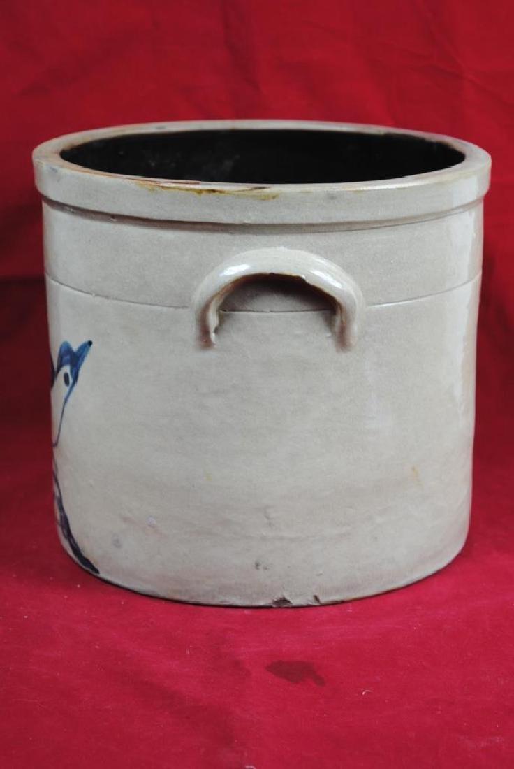 Two-Gallon Salt Glazed Crock w/ Bird on Branch - 5